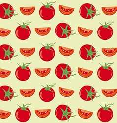 Tomatoes seamless background vector