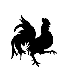 Black silhouette of an cock vector