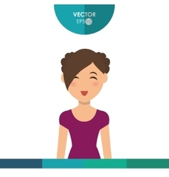 Woman icon design vector