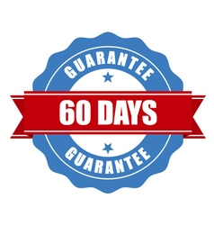 60 days guarantee stamp - warranty sign vector