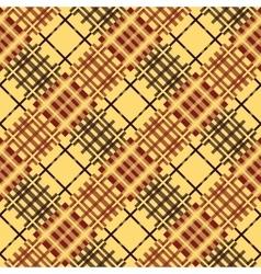 Seamless tartan pattern diagonal brown palette vector