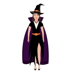 Beautiful witch costume with dress vector