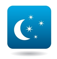 Moon and stars icon simple style vector