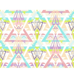 Abstract geometric seamless aztec pattern vector image