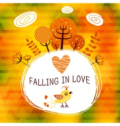 Autumn falling in love vector