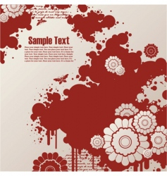 background with blots and flowers vector image vector image