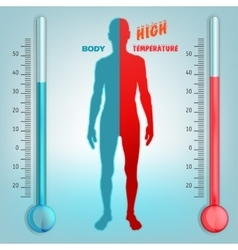 Body temperature vector image