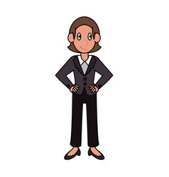 Business woman avatar cartoon vector