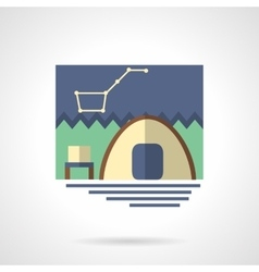 Campsite flat color icon vector image