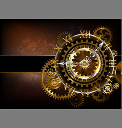 Clock with gears vector