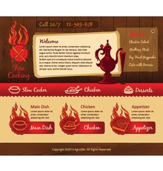 Cooking vintage web template vector image