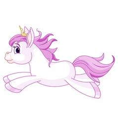 Cute horse princess running vector