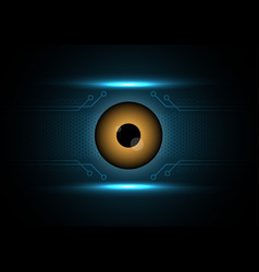 cyber security safety concept watching eye vector image vector image