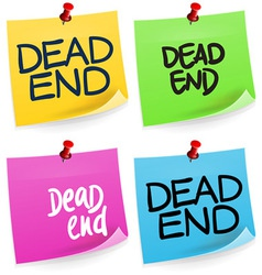 Dead End Sticky Note vector image vector image
