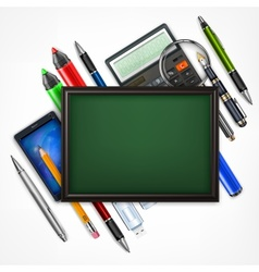 Education concept blackboard vector