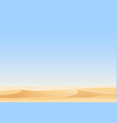 Empty sky desert dunes egyptian landscape vector