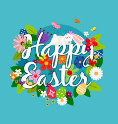 happy easter card emblem vector image vector image