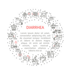 Icons diarrhoea in the circle vector