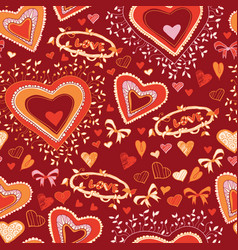 Love cute heart seamless pattern vector
