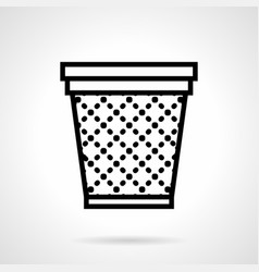 Office basket simple line icon vector