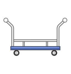 Open shop cart icon cartoon style vector