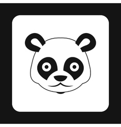 Panda icon simple style vector image vector image