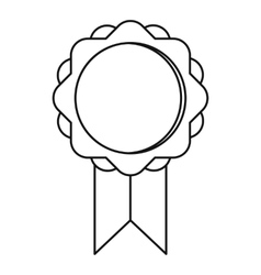 Round banner icon outline style vector