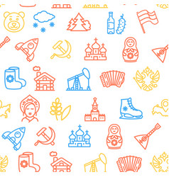 russia travel and tourism pattern background on a vector image