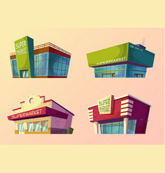 set of cartoon buildings of modern vector image vector image