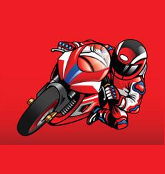 sportbike racer in action vector image