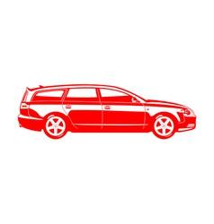 Station wagon vector image vector image
