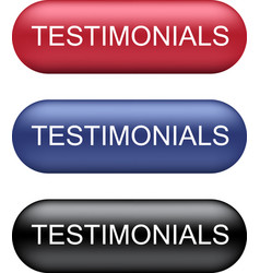 testimonials buttons collection vector image