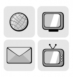 website and internet icons vector image