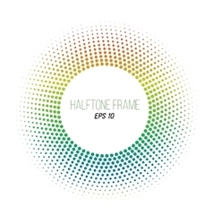 Color halftone dotted frame round banner stock vector
