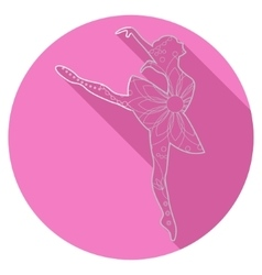 Flat icon of ballet dancer vector image