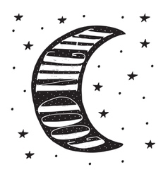 Good night modern lettering poster vector