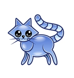 Cute cartoon cat isolated vector