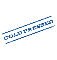 Cold pressed watermark stamp vector