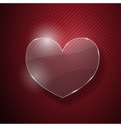 Heart from glass vector image
