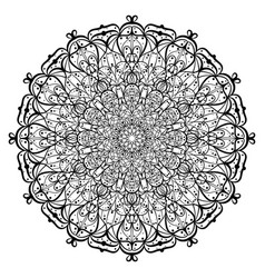 Lace ornament mandala vector