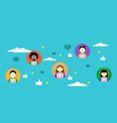 Social media network flat design vector