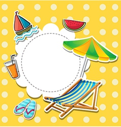 A stationery with things found at the beach vector