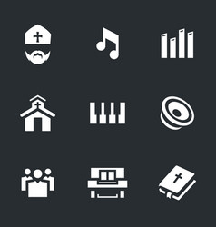 Set of religion icons vector