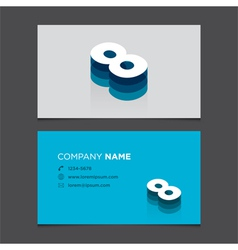 Business card number 8 vector