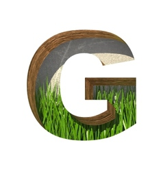Grass cutted figure g paste to any background vector