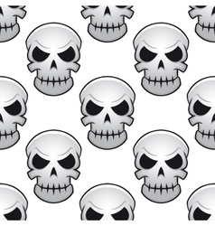 Seamless pattern of danger skulls vector
