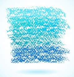 Blue pastel crayon spot isolated on white vector