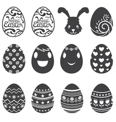 Easter Eggs Icons and Set vector image