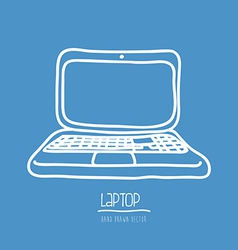 Laptop drawn vector