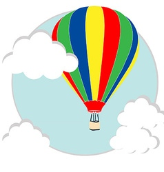 Balloon in the sky vector